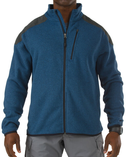 5.11 Tactical Full-Zip Fleece Sweater, Blue, hi-res