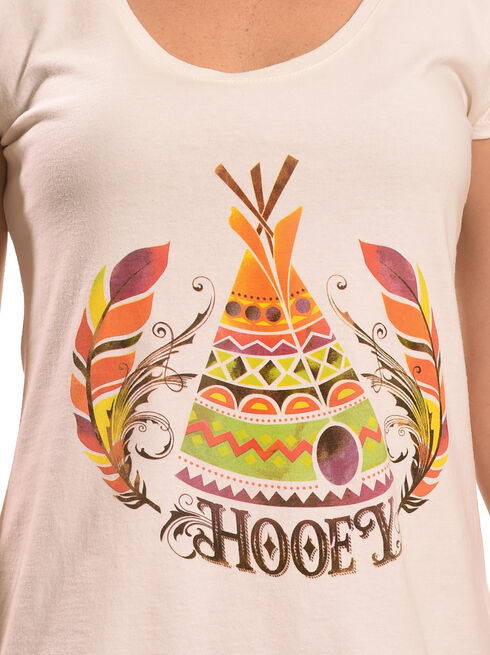 Hooey Women's Cream Teepee T-Shirt , Cream, hi-res