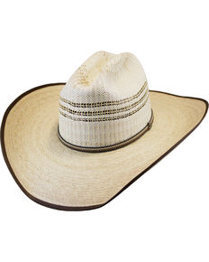 Justin Men's Natural Rawlins Palm Leaf Cowboy Hat , Natural, hi-res