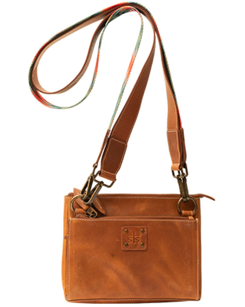 STS Ranchwear Women's Basic Bliss Lily Crossbody Bag, Brown, hi-res