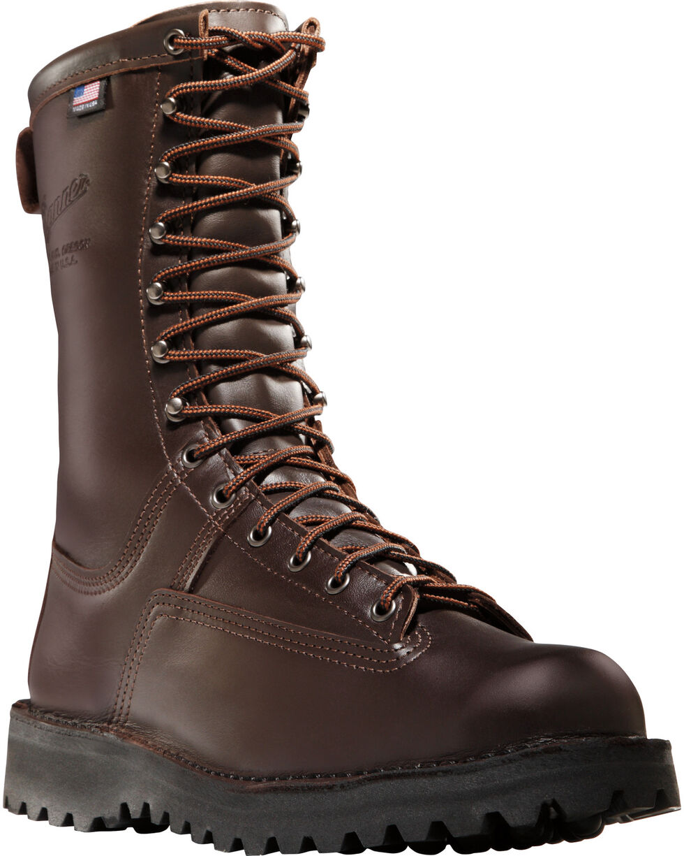 "Danner Men's Brown Canadian 10"" Insulated Hunting Boots - Round Toe , Dark Brown, hi-res"