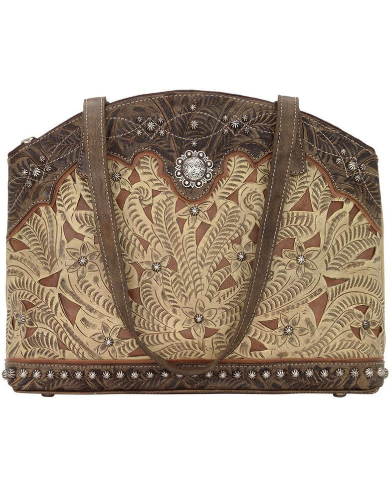 American West Women's Annie's Conceal Carry Half Moon Purse , Sand, hi-res