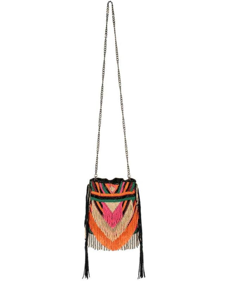 Mary Frances Women's Boho Crossbody Bag, Black, hi-res