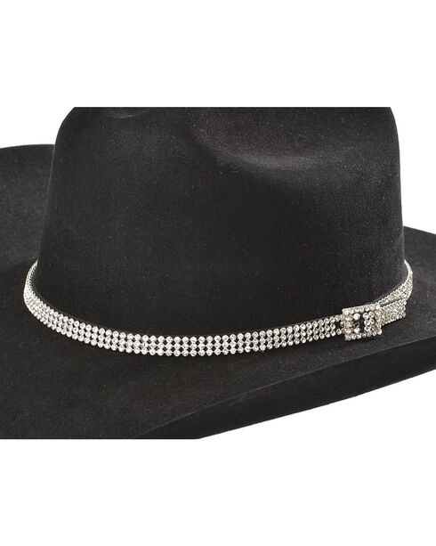 Clear Rhinestones Hat Band, Clear, hi-res