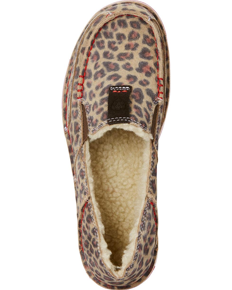 Ariat Women's Fleece Cheetah Cruiser Shoes - Moc Toe, Cheetah, hi-res