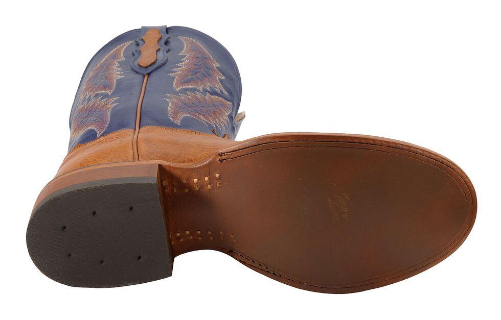 Tony Lama San Saba Royal Blue Cowboy Boots - Round Toe, Aztec, hi-res