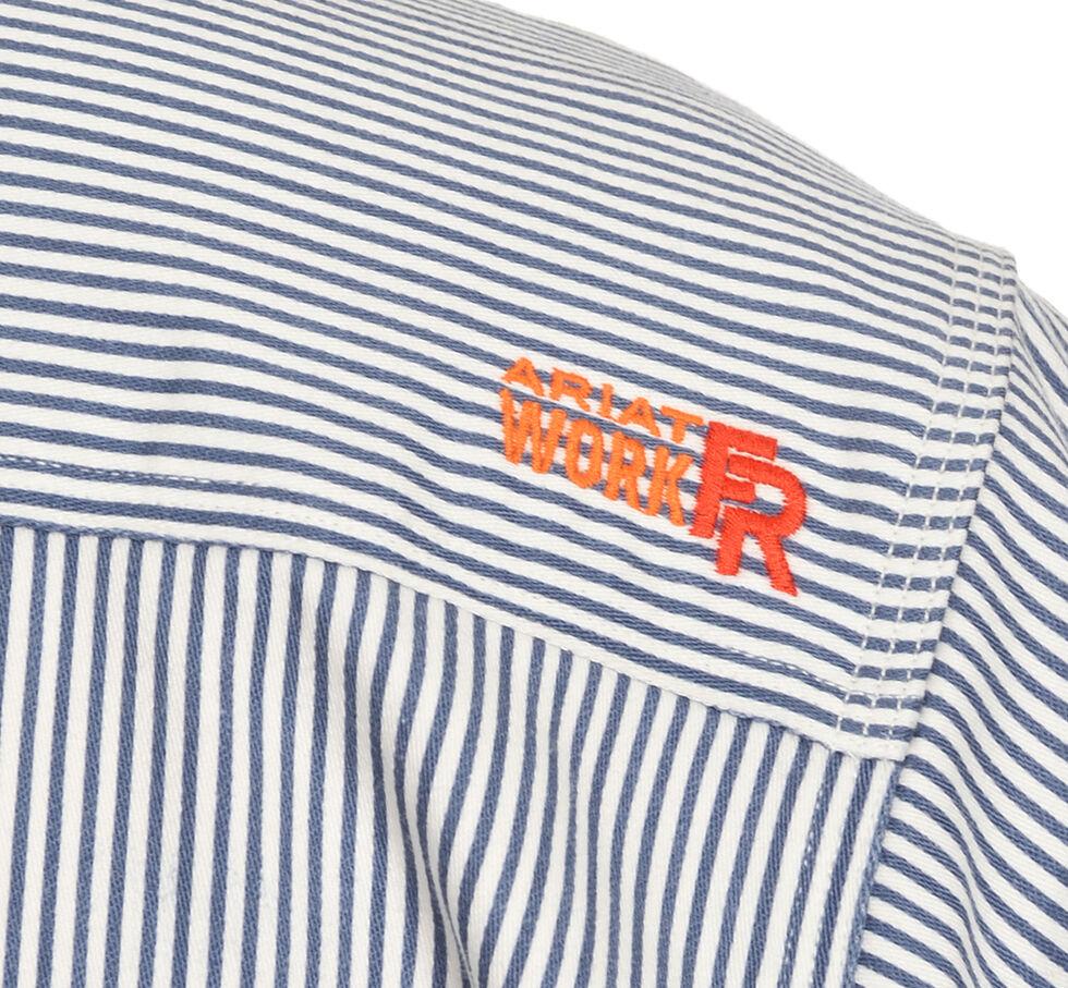 Ariat Men's Flame-Resistant Blue Striped Work Shirt - Big & Tall, Blue, hi-res