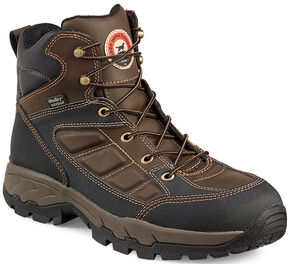 Red Wing Irish Setter Ely Waterproof Hiker Work Boots - Aluminum Toe , Brown, hi-res