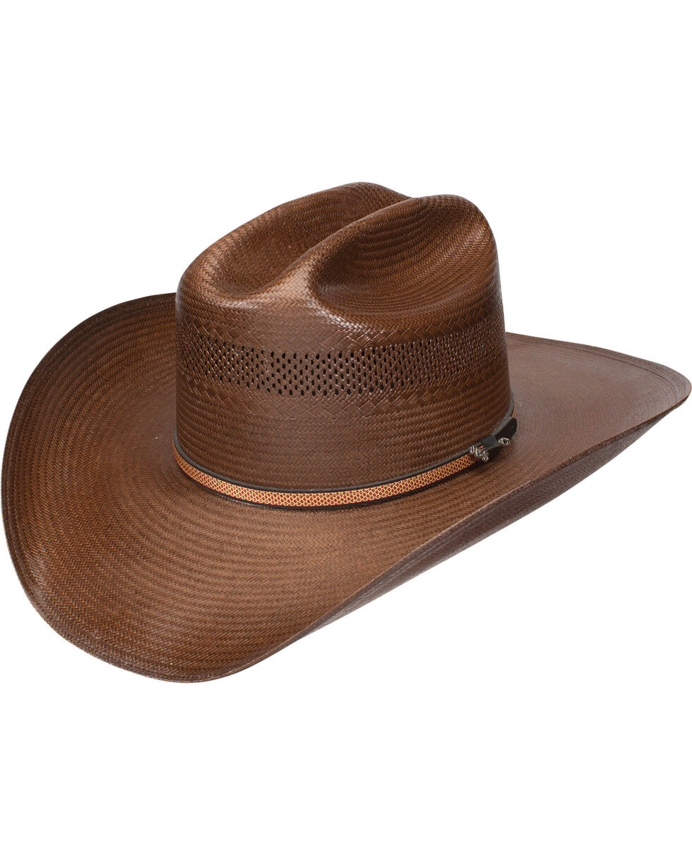 Stetson Men's Striker 10X Straw Vented Cowboy Hat, Brown, hi-res