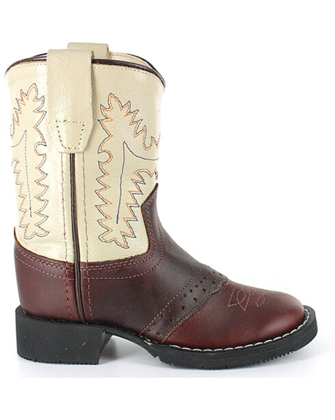 Cody James Youth Boys' Roper Western Boots - Round Toe , Brown, hi-res