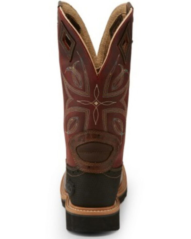Justin Women's Kylee Western Work Boots - Composite Toe, Red, hi-res