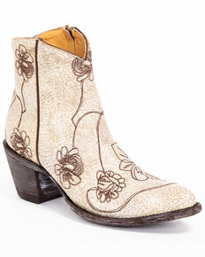 Idyllwind Women's Vegas Western Booties - Pointed Toe, White, hi-res