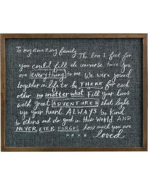 Demdaco Family Love Letter Wall Art, Black, hi-res