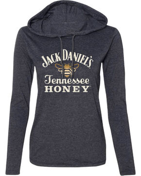 Jack Daniel's Women's Honey T-Shirt Hoodie , Heather Grey, hi-res