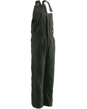 Berne Original Washed Insulated Bib Overalls, Olive Green, hi-res