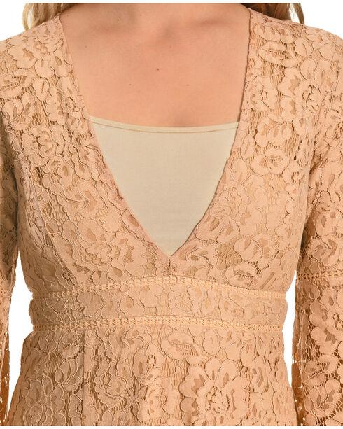 Young Essence Women's Long Sleeve Lace Dress, Mauve, hi-res