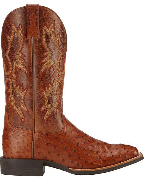 Ariat Quantum Classic Full Quill Ostrich Cowboy Boots - Square Toe, Brandy, hi-res