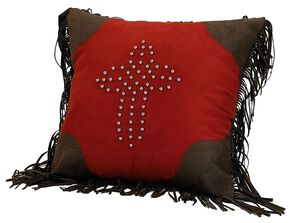 HiEnd Accents Studded Cross Decorative Pillow, Multi, hi-res