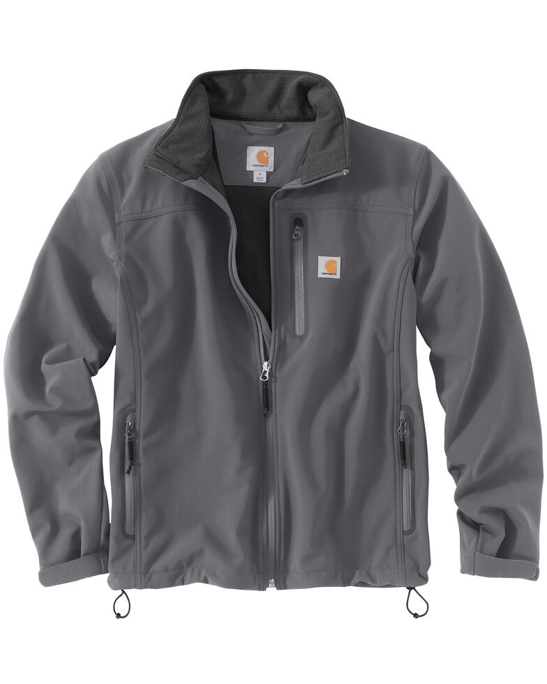 Carhartt Men's Denwood Work Jacket, Charcoal Grey, hi-res