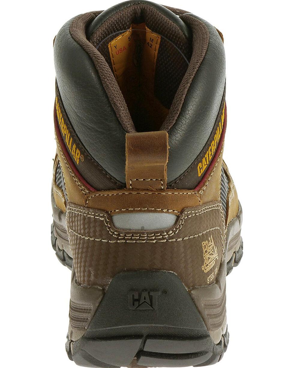 Caterpillar Men's Dark Beige Convex Mid Work Boots - Steel Toe , Light Brown, hi-res