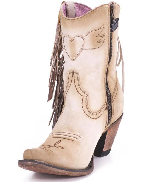 Junk Gypsy by Lane Cream Spirit Animal Ankle Boots - Snip Toe , Cream, hi-res