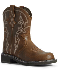 Ariat Women's Triad Heritage Western Boots - Round Toe, Brown, hi-res