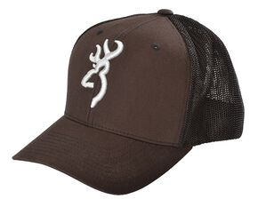 Browning Buckmark Logo Flex Fit Cap - L/XL, Brown, hi-res