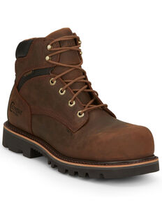 Chippewa Men's Sador Work Boots - Composite Toe, Brown, hi-res