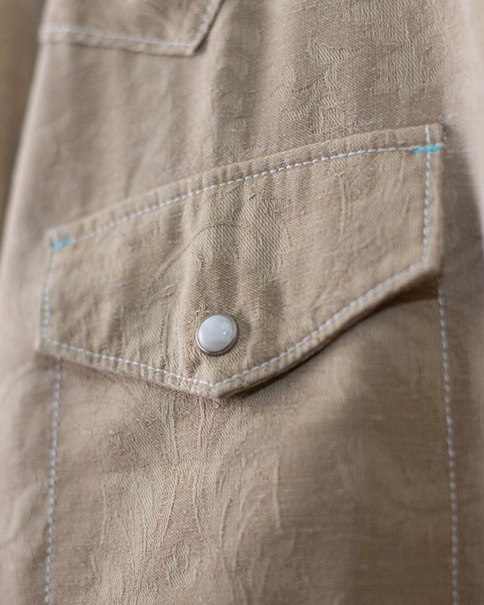 Ryan Michael Men's Burlap Tapestry Jacquard Shirt, Brown, hi-res