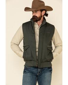 Powder River Outfitters Men's Olive Concealed Carry Quilted Vest , Olive, hi-res