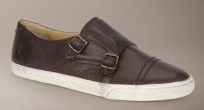 Frye Women's Mindy Monk Sneakers, Dark Brown, hi-res