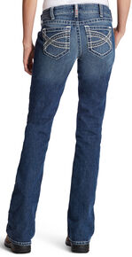 Ariat Women's FR Entwined Boot Cut Jeans, Indigo, hi-res