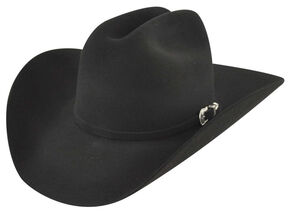 Bailey Western Lightning 4X Black Fur Felt Hat, Black, hi-res