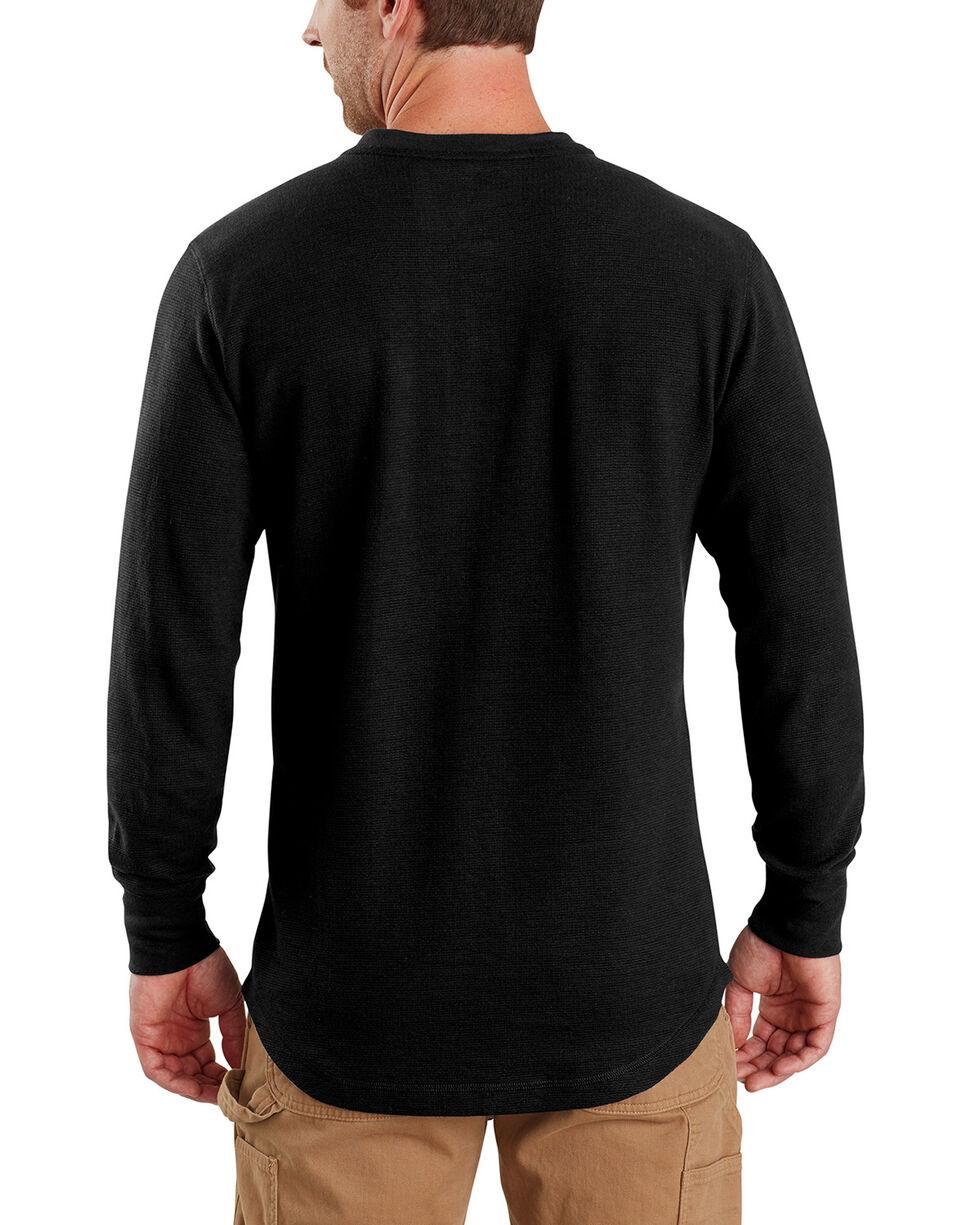Carhartt Men's Tilden Long-Sleeve Henley Tee - Big, Black, hi-res