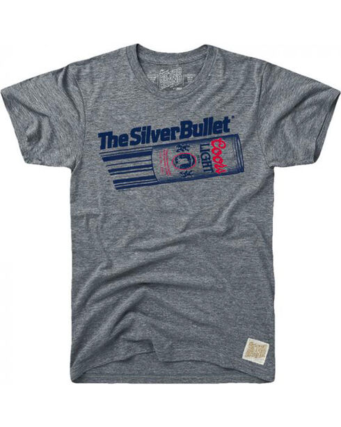 Original Retro Brand Men's Coors Light Silver Bullet Tee, Grey, hi-res
