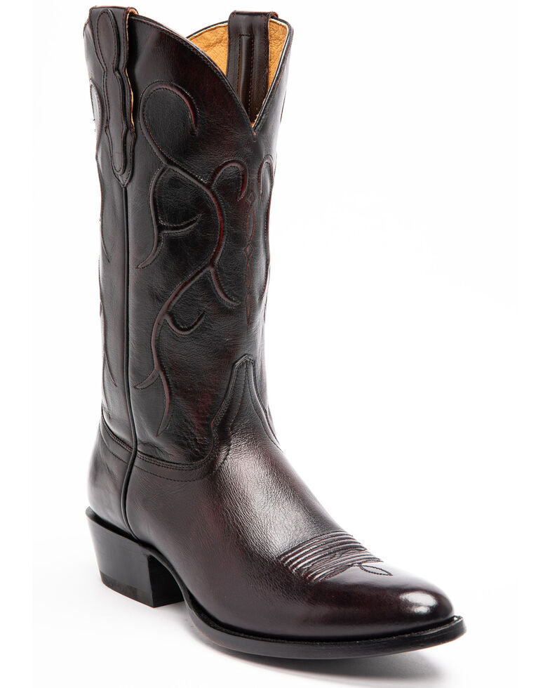 Cody James Men's Deputy Western Boots - Round Toe, Black Cherry, hi-res