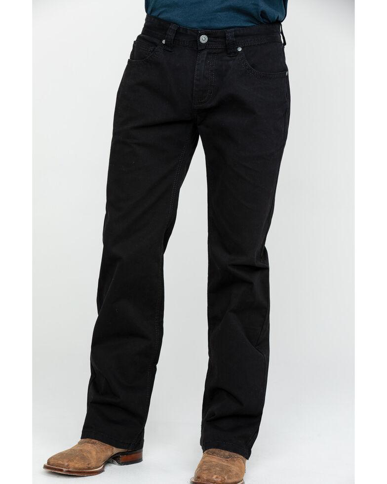 Rock & Roll Denim Men's Black W Stitch Pistol Straight Jeans , Black, hi-res