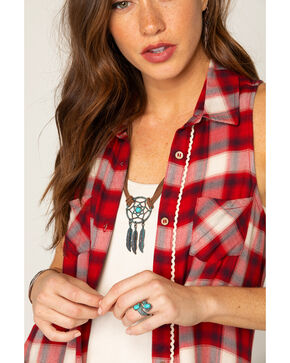 Shyanne Women's Leather Cord with Dream Catcher Necklace, Turquoise, hi-res