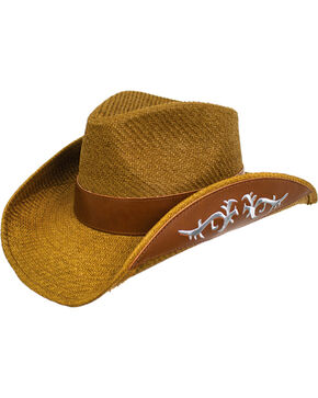 Peter Grimm Women's Brown Kashley Cowgirl Hat , Brown, hi-res
