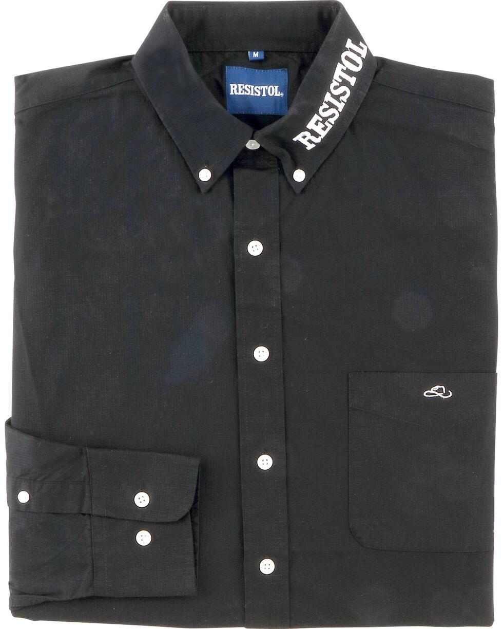 Resistol Men's Logo Long Sleeve Button Down Shirt, Black, hi-res