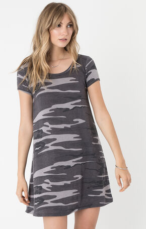 Z Supply Women's Black Connor Camo Dress , Black, hi-res