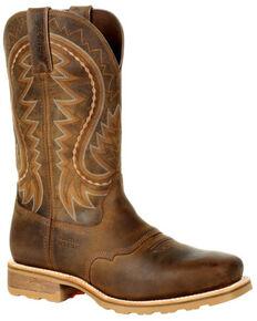 Durango Men's Maverick Pro Western Work Boots - Steel Toe, Tan, hi-res