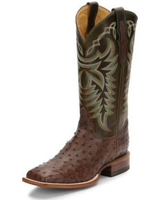 Justin Men's Pascoe Brown Kango Western Boots - Wide Square Toe, Brown, hi-res
