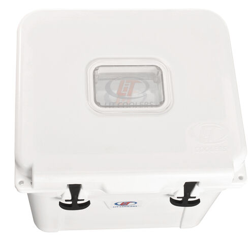LiT Coolers Halo TS 400 White Cooler - 32 Quart, White, hi-res