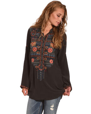 Johnny Was Women's Nomeo Silk Blouse, Multi, hi-res