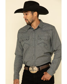 Cody James Men's Gallop All-Over Floral Print Long Sleeve Western Shirt - Big , Grey, hi-res