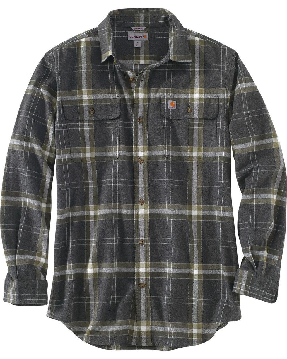 Carhartt Men's Black Hubbard Plaid Shirt - Tall, Black, hi-res