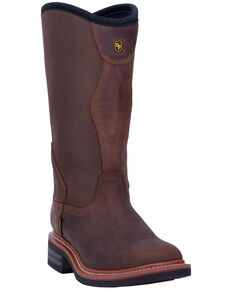 Dan Post Men's Stockyard Waterproof Western Boots - Wide Square Toe, Brown, hi-res