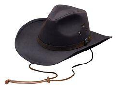 Outback Trading Co. Oilskin Trapper Hat, Brown, hi-res