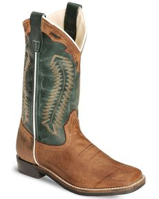 Cody James Youth Boys' Barnwood Cowboy Boots - Square Toe, Brown, hi-res